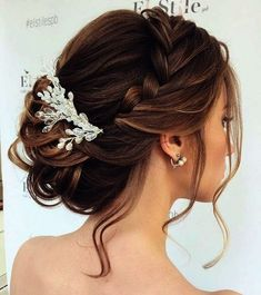 Beautiful braided Updos Wedding hairstyle to inspire you - This stunning wedding hairstyle for long hair is perfect for wedding dayWedding Hairstyle ideas