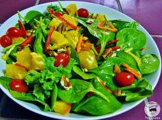 Salada de Espinafre com Laranja e Nozes ~ Veganana