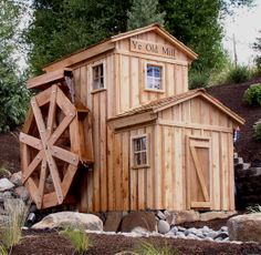water wheel | foot diameter water wheel and mill building at the