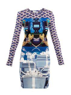 Sphinx present-print jersey dress