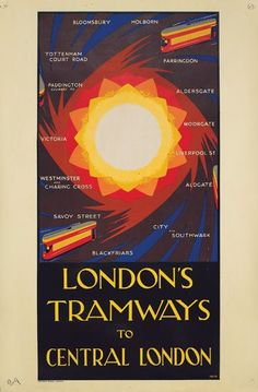 1930s poster for London's tramways