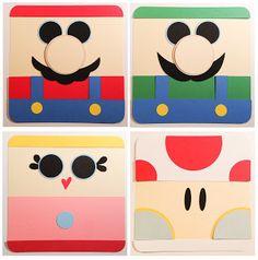 J, Mx2, A, and Z: Mario Bros Invites