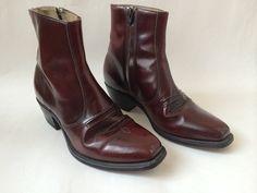 Vintage Men's Oxblood Boots 12 by Baxtervintage on Etsy, $65.00