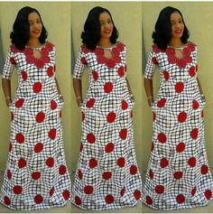 The complete pictures of latest ankara long gown styles of 2018 you've been searching for. These long ankara gown styles of 2018 are beautiful African Print Clothing, African Print Dresses, African Print Fashion, African Fashion Dresses, Ankara Long Gown Styles, Ankara Gowns, African Attire, African Wear, African Style