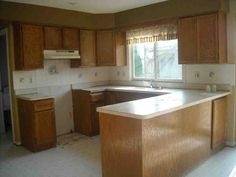 update oak kitchen cabinets - Oak Kitchen Cabinet Makeover