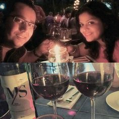 We started our married life over a glass of fratelli and heee we are celebrating love and life after 7 years yet again over a glass of wine... . . . #love #ValentinesDay #together #celebration #malakaspice #candle light #special day #dinner #VeryFratelliValentines #fratelli #wine