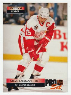 Steve Yzerman # 247 - 1992-93 NHL Pro Set Hockey