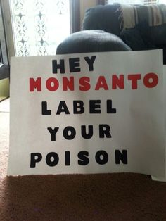 March against Monsanto poster 5-24-2014