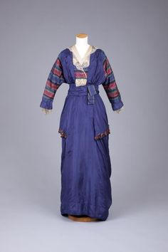 OMG that dress! — Dress The Goldstein Museum of Design Edwardian Era Fashion, Edwardian Clothing, 1900s Fashion, Edwardian Dress, Antique Clothing, Historical Clothing, Vintage Fashion, 1920 Clothing, Modern Clothing