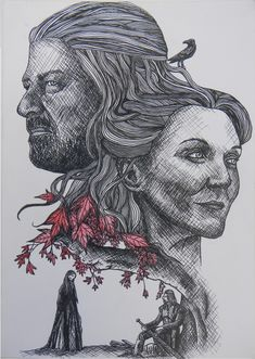 Eddard and Catelyn by JonathanW-M  I dont like Catelyn .
