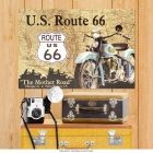 US Route 66 Mother Road Motorcycle Garage Metal Sign