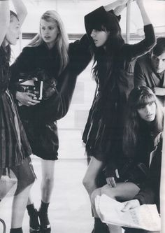 Sasha Pivovarova, Millana Keller, Irina Lazareanu & Freja Beha by Michael Thompson, W October 2006