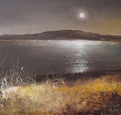 Artist: Amanda Hoskin; Title: A Quiet Evening Settles over the Islands, Scillies; Medium: Oil on paper