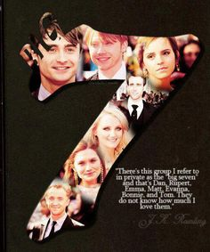 Rowling quote about the main Harry Potter actors. Gah I love how theres the number of Harry Potter. I cannot get over the genius of JKR. Harry Potter Film, Harry Potter Jokes, Harry Potter Universal, Harry Potter Fandom, Harry Potter World, Draco Malfoy, Severus Snape, Matthew Lewis, Bonnie Wright