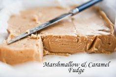 Caramel Fudge made with marshmallows
