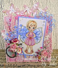 Something Beautiful By Julie: T is for Tic Tac Toe at ABC Challenge Tic Tac Toe, Something Beautiful, I Card, Fairy, Challenges, Princess Zelda, Frame, Projects, Fictional Characters