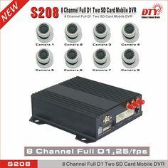 Diaľku sledovať 8 kanálov H.264 D1 Car Mobile Security Vehicle DVR, S208-4GW (4G + WiFi + GPS)