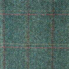 Estate/ Overcheck Herringbone- A traditional herringbone pattern overlaid with a basic check (Scotweb Tartan Mill)