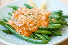 Green Beans with Peanut Sauce  Very good, 800 times as much sauce as you could possibly need.  I would make 1/8-1/4 as much