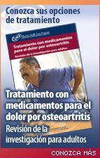 Tratamiento con medicamentos para el dolor por osteoartritis: Revisión de la investigación para adultos