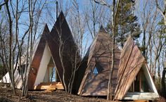"""Nasu-Tepee-by-NAP-Architects_Koji-Fujii_dezeen_468_0. Each room of this woodland retreat in Japan is topped by a """"pointy hat"""" that gives the timber structure the appearance of a group of pitched tents (+ slideshow).  Nasu-Tepee-by-NAP-Architects_Koji-Fujii_dezeen_468_0  Designed by Japanese architect Hiroshi Nakamura and his studio NAP, Nasu Tepee is a 156-square-metre house set in a picturesque woodland district in Tochigi Prefecture."""