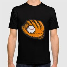 Baseball Glove Ball Retro Illustration of a baseball glove and ball viewed from front set on isolated white background done in retro style. #illustration #BaseballGloveBall