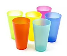 6 Pack Colorful Reusable Party Cups - Cute Picnic Drinkware Pack), Blue, Imperial Home(Plastic) Reusable Plastic Cups, Party Cups, Party Drinks, Colorful Party, Cupping Set, Crate And Barrel, Just In Case, Picnic, Tableware
