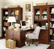 Hardworking offices call for super storage, like our Tuscan Return Office Group. It has tons of storage for papers, books, and office supplies, so your home office feels tidy and neat!
