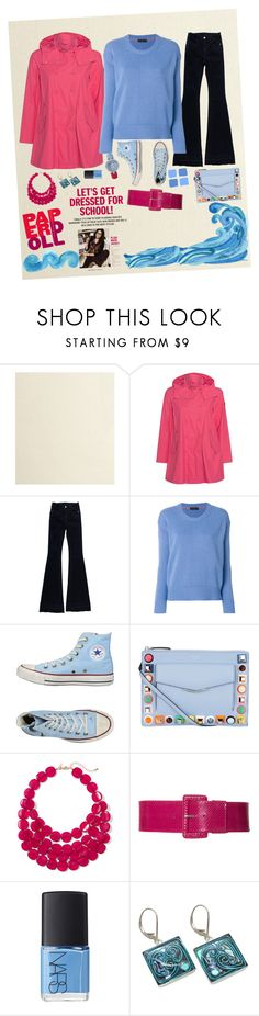 """""""paper doll"""" by elisalunardelli ❤ liked on Polyvore featuring Save the Duck, STELLA McCARTNEY, Etro, Converse, Blue Squares, Fendi, New York & Company and NARS Cosmetics"""