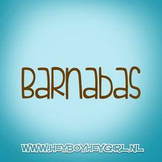 Barnabas (Voor meer inspiratie, en unieke geboortekaartjes kijk op www.heyboyheygirl.nl)