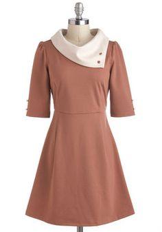 Parisian Port Dress in Chamoisee, #ModCloth