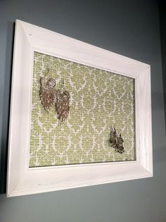 Framed #Earring #Holder by ZassysTreasures on Etsy, $25.00