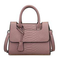 Trendy damestas met handvat/ schouderband perzik kleur