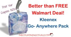 WOOHOO! Want a better than free deal? Get a Better than FREE deal on Kleenex Go Anywhere at Walmart! Print your coupon now!  Click the link below to get all of the details ► http://www.thecouponingcouple.com/kleenex-go-anywhere-pack/ #Coupons #Couponing #CouponCommunity  Visit us at http://www.thecouponingcouple.com for more great posts!