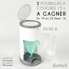 Korbell - 2 poubelles à couches