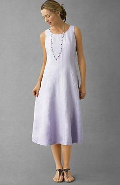 8. Favorite Summer Wear - a nice linen sheath. OK - so that isn't me! But, something as simple as this is so versatile... Jewelry, hand knit scarves, etc. dress it up. One in white and one in black - 'nuf said.