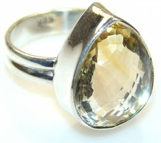Excellent Citrine Quartz Sterling Silver ring s. 7 1/4 - 6.60g | $40.85 best price at Silver Rush Style!