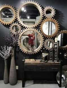 Gear Wall Decor 8. decorate your walls with gear wall clocks! gears are important