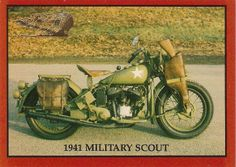 1941 Indian 741 Military Scout Model H Motorcycle 30.07 cu. in. 15 Horse Power ... Ya but he also had a Thompson MG.
