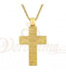 Σταυρός ανδρικός χρυσός Κ14 ST_026 Symbols, Letters, Letter, Lettering, Glyphs, Calligraphy, Icons
