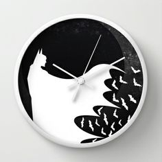 Knight Rising Inverted  Wall Clock by UvinArt - $30.00
