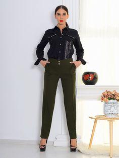 Pantaloni Dama Ilinca 16 , pantalon casual , pantalon office, tinuta casual , tinuta office, camasa, camasa cu detalii , camasa office, glitter Sport, Glitter, Suits, Jeans, Board, Casual, Fashion, Deporte, Moda