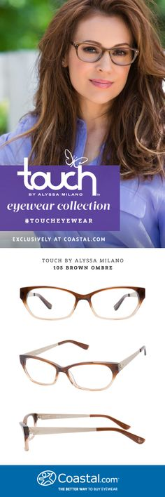 Touch by Alyssa Milano 105 Brown Ombre, exclusively at @Coastal.com #TouchEyewear