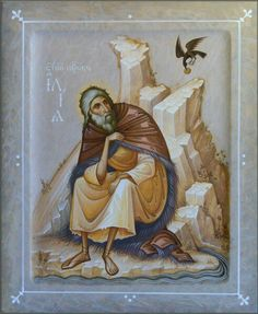 Prophet Elias by Oleg Shurkus Byzantine Icons, Byzantine Art, Religious Icons, Religious Art, Faith Of Our Fathers, Biblical Art, Soul Art, Art Icon, Orthodox Icons