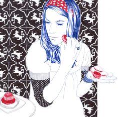 青春期的焦慮原子筆插畫 - Carine Brancowitz on KAIAK.TW | 城市美學的新態度