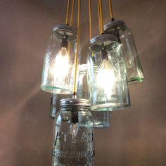 Jar ceiling lamp