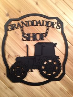 Custom Metal Wall Art Metal Sign Tractor and Name By PrecisionCut – metal of life Metal Projects, Welding Projects, Metal Artwork, Metal Wall Art, Plasma Cutter Art, Custom Metal Signs, Monogram Signs, Farm Signs, Farmhouse Style Decorating