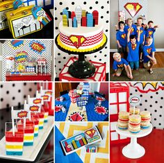Check out these SUPER party ideas by Contributor Maureen Anders of Anders Ruff Custom Designs in her {Budget Friendly} Comic Book Style Super Hero Party! http://hwtm.me/11k5ppe #SuperHero #Comic #Party