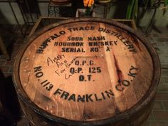 The Mandeville Bourbon Club paid tribute to the barrel from Buffalo Trace Distillery and shows the nail in the lid that was removed by the pros at Abita Brewery to have the ale sampled for taste and quality. Bung up and bourbon down!