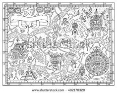 24 Best Colouring pages for adults - map images | Map, Adult ...